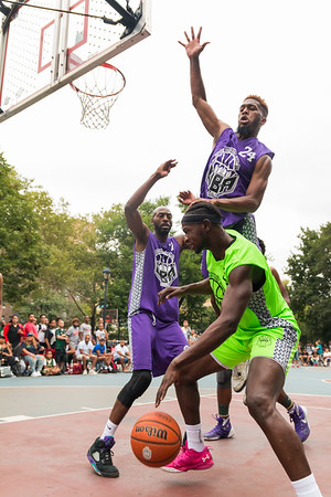 Uptown Basketball Alliance Summer Tournament 2017. Game Between HighBridge Vs Young Onez at Raoul Wallenberg Playground  189th St and Amsterdam Avenue, New York - NY.