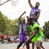 Uptown Basketball Alliance Summer Tournament 2017. Game Between HighBridge Vs Young Onez at Raoul Wallenberg Playground <br /> 189th St and Amsterdam Avenue, New York - NY.
