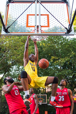 Dunk from Queens Get Money against Unusual Suspect at the Kenny Graham's 40th Anniversary West 4th Street Pro-Classic Basketball League. New York, NY. 2017