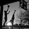 Basketball Players Silhouette, Hudson River Greenway, New York, NY. 2016