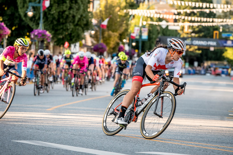 Sara Bergen was once agan in the hunt for a win. PoCo Grand Prix.