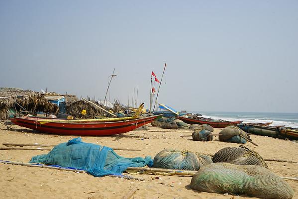 Poblado Pescador en Konarak - Nov 2015