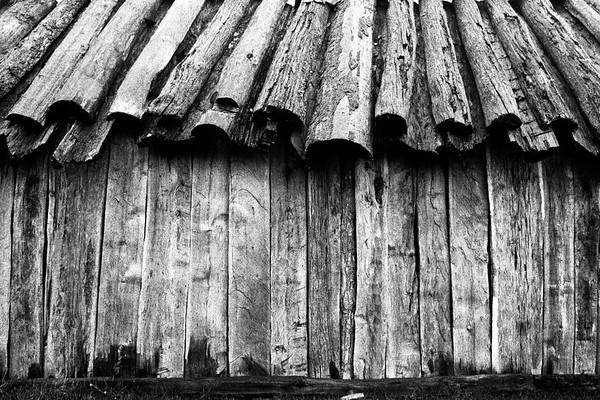 Las maravillosas construcciones antiguas de canogas en el techo. Hoy se reemplazo por zinc