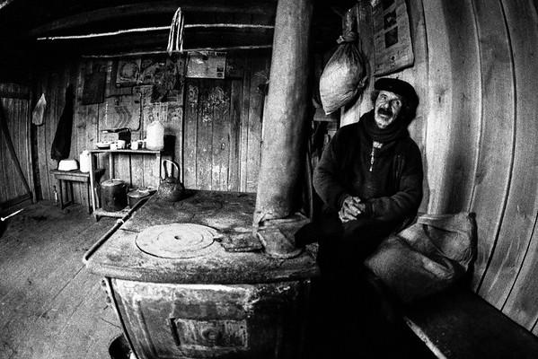Don Eraldo en su casa. Campo el Alegre 2006