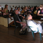 Poetry Program<br /> Galway Kinnell and Robert Hass listen to Craft Talk