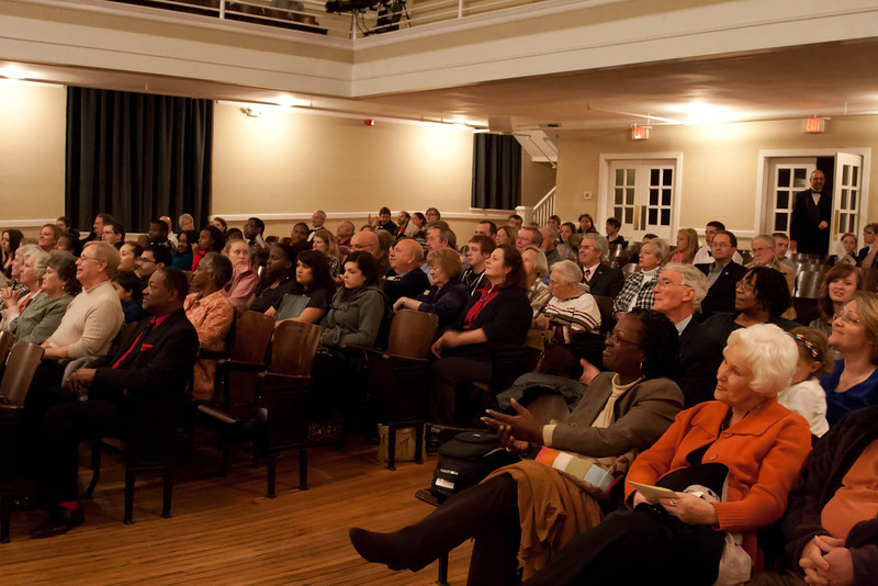 Crowd at Mount Olive Assembly Hall
