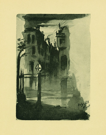 Early Drawing of Holywell Street