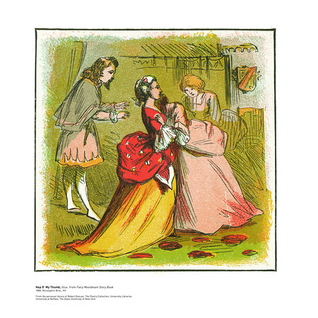 Cinderella or the Little Glass Slipper, illus. from Fairy Moonbeam Story Book<br /> 1880, McLoughlin Bros., NY<br /> <br /> <br /> From the personal library of Robert Duncan. The Poetry Collection, University Libraries<br /> University at Buffalo, The State University of New York