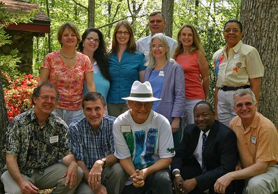 Fleur-de-Lisa with NCHS members whose haiku were included in the anthology Beneath the Willow Tree. Fleur-de-Lisa's CD, Willow Songs, is based on the haiku in that anthology.   On the front row from left to right, we have Rich Kraweic, Richard Straw, Bob Moyer, Lenard D. Moore, and Dave Russo. In the second row we have Sarah Shunk, Andie Piddington, Deborah Stewart, and Kate MacQueen. In the last row we have Curtis Dunlap, Sylvia Freeman, and Teresa Church.