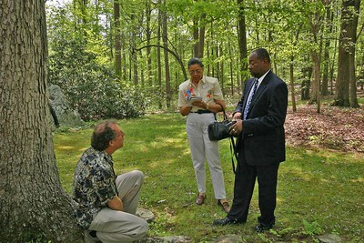 Rich talks with Lenard D. Moore and Teresa Church. Lenard is President of the Haiku Society of America and Executive Chairman of the North Carolina Haiku Society.