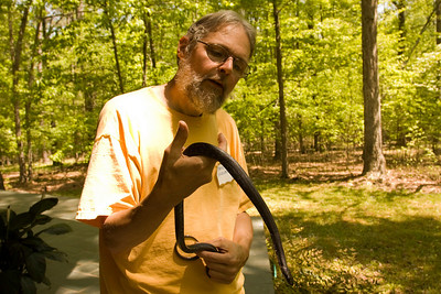 During the workshop, Stan Siceloff spied this handsome Black Rat Snake and went out to investigate.