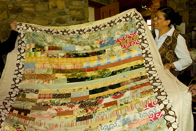Teresa shows us her latest quilting project.