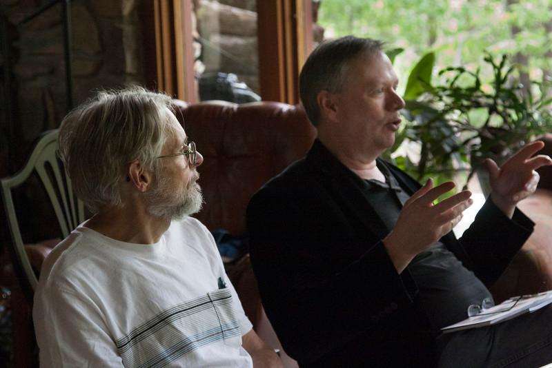 Stan Sieceloff and Curtis Dunlap shoot the breeze.