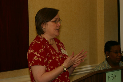 """Helen Jones begins her presentation about ways to revisit and revise the original experience in a haiku, so that we don't keep writing the same haiku over and over (!) She was inspired by one of her favorite poems, """"Thirteen Ways of Looking at a Blackbird,"""" by Wallace Stevens."""