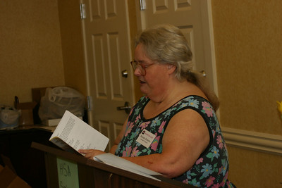 Brenda Roberts reads her haiku from small canyons 2. Cliff and Brenda are the guiding spirits of the Fort Worth Haiku Society. Her official title is Chairwoman (Secretary/Treasurer) of the FWHS.