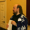 Cliff pauses during his Haiku 101 presentation.