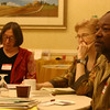 Dr. Susan Delaney, Johnye Strickland, and Lenard listen to Cliff's Haiku 101 presentation.<br /> <br /> Susan is a psychiatrist in Plano, Texas. She was the founding Vice President of the Fort Worth Haiku Society.<br /> <br /> Johneye is a retired college professor. She is the newsletter editor for the Haiku Society of America and is Associate Editor of Simply Haiku.