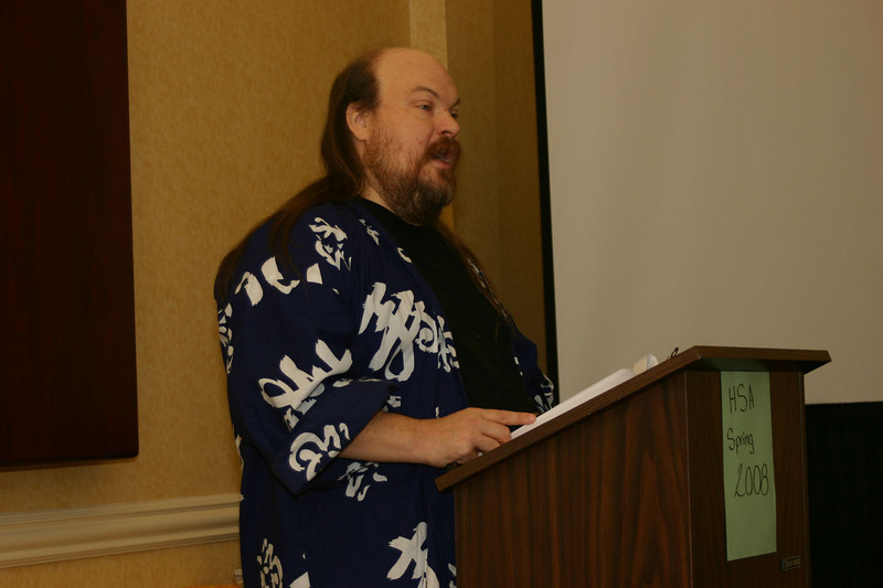 Cliff T. Roberts opens the meeting on Saturday morning. Cliff is President and Founder of the Fort Worth Haiku Society. He is also Southwest Region Coordinator for the Haiku Society of America.<br /> <br /> Cliff organizes a lot of fun activities for FWHS members, some of whom are relatively new to haiku. I was impressed with the way the FWHS members support each other in haiku and in life.