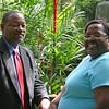 Lenard and Lynn in the steamy butterfly garden.