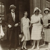 James Joyce, Nora, Mrs. John Drinkwater and Kathleen Markwell, Salzburg, Austria