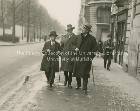 James Joyce, James Stephens and John Sullivan walking in Rue Raspail, Pairs