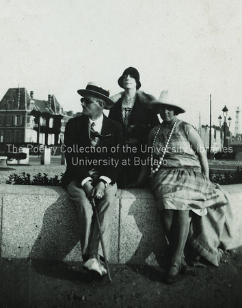 James Joyce with Nora and Moune Gilbert, Zurich