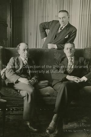 James Joyce, James Stephens and John Sullivan at Stephens' apartment, Paris