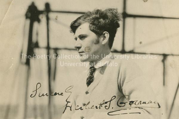 Herbert Gorman, Joyce's first biographer, in profile