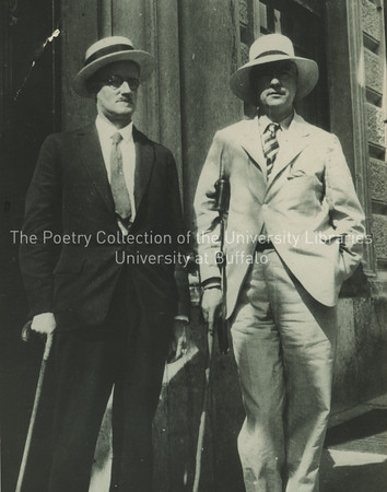 James Joyce and John Drinkwater in Salzburg, Austria