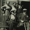 """The Joyces at Rocofoin""--Madame Monnier, Adrienne Monnier, Sylvia Beach, James Joyce and M. Monnier"