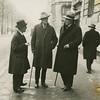 James Joyce, James Stephens and John Sullivan talking on Rue Raspail, Paris