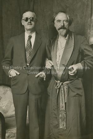 James Joyce with Augustus John, Paris