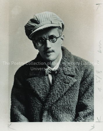 James Joyce in cap, Bognar, Wales