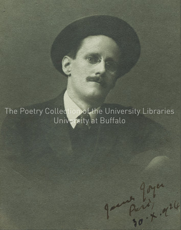 James Joyce wearing hat, with head tilted, Zurich