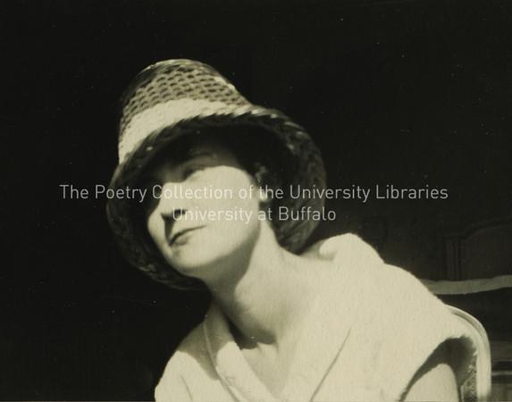Lucia Joyce wearing hat, Ostend