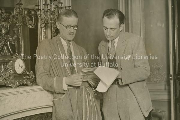James Joyce with Philippe Soupault