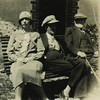 """The Joyces at Rocofoin""--Nora Joyce, James Joyce and M. Monnier"