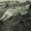 Lucia Joyce lying on grass, Ostend