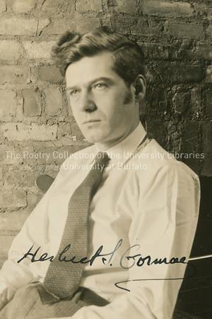 Herbert Gorman, Joyce's first biographer, three-quarter view