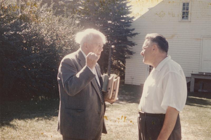 Robert Frost and Victor E. Reichert