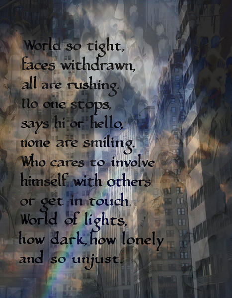 World so Tight, 2013<br /> Photographic Digital Collage and Poetry<br /> Poem, 1981
