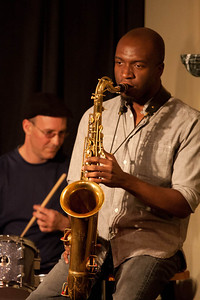 Michael Kinchen on saxaphone.