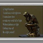 Poetry By Angel Veselino, A Thinking Thinker, Rictographs Images