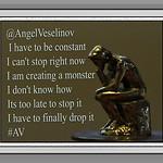 A Thinking Thinker, Rictographs Images, Poet Angel Veselinov