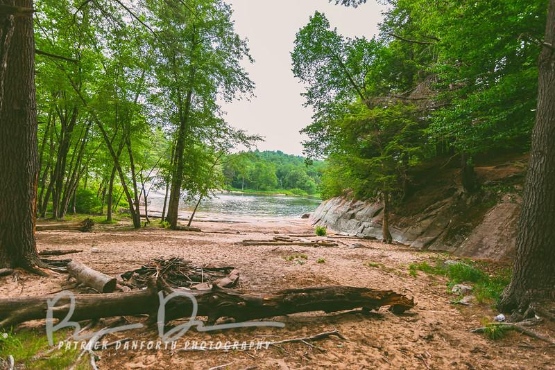 Beach at Lampson Falls
