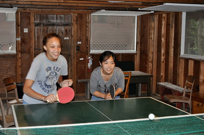 Ping-pong fun in the game barn!