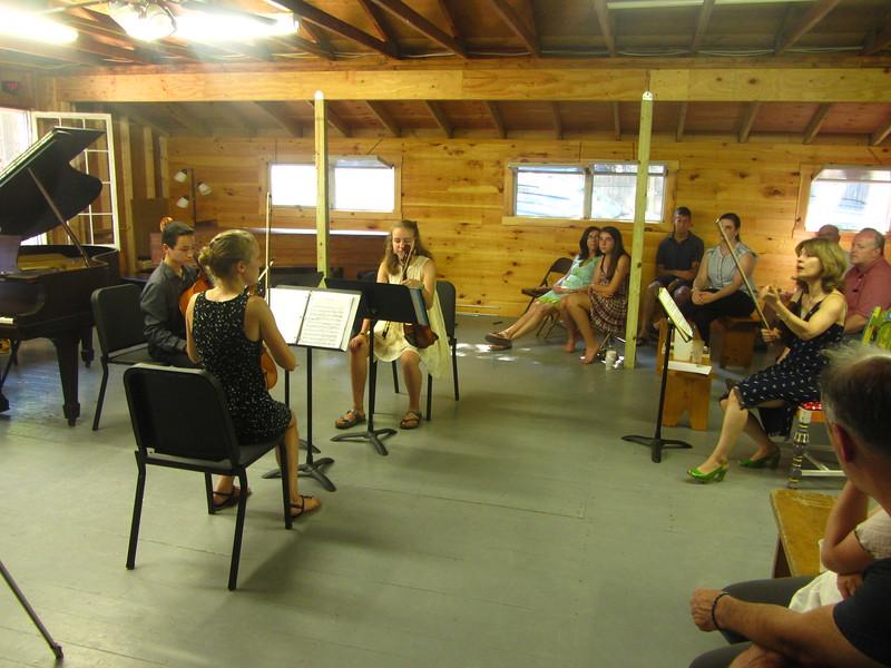 Anne, Julian, Anna & James receiving masterclass teaching from Irena