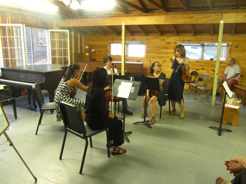 (left to right) Telden, Miranda, Matt & Emma receiving masterclass teaching from Irina
