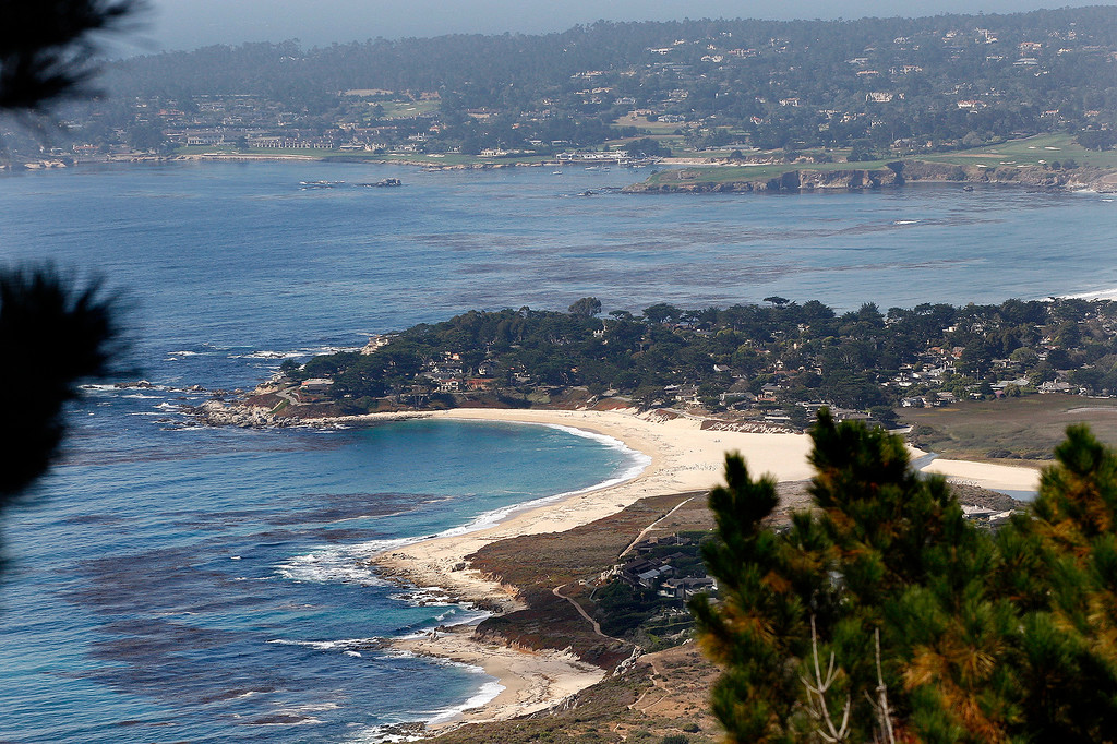 . Looking north from the Point Lobos Ranch property over Carmel River State Beach and the Pebble Beach Golf Links on Wednesday, September 12, 2018.  (Vern Fisher - Monterey Herald)