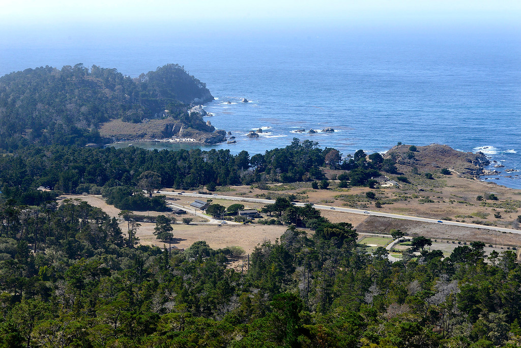 . Looking over Highway One and Point Lobos State Reserve from the Point Lobos Ranch property on Wednesday, September 12, 2018.  (Vern Fisher - Monterey Herald)